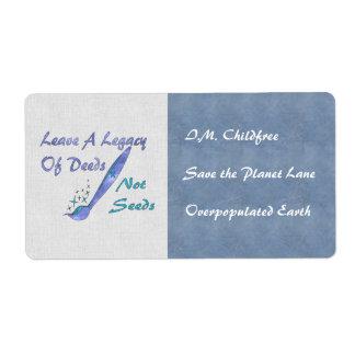 Deeds Not Seeds Label