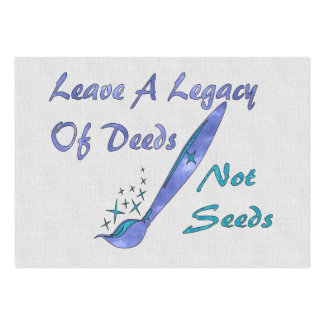 Deeds Not Seeds Large Business Card