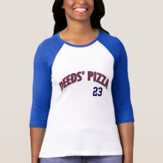 Deeds Pizza, Funny Movie T-shirt at Zazzle