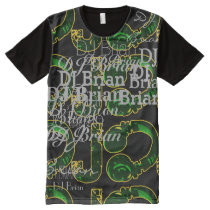 deejay dj cool and personalizable All-Over-Print shirt