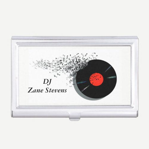 DeeJay DJ Disc Jockey Vinyl Record Case For Business Cards