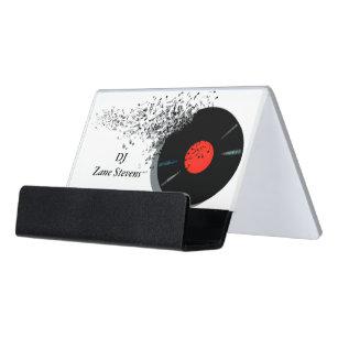Deejay business card holders zazzle deejay dj disc jockey vinyl record desk business card holder colourmoves