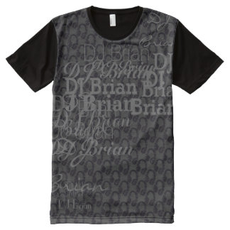 deejay dj name personalizable All-Over print t-shirt