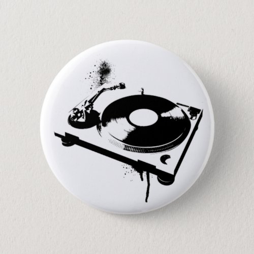 Deejay DJ Turntable Button | House Music Gifts