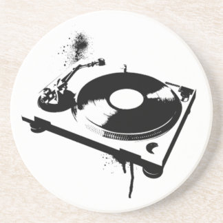 Deejay DJ Turntable Coaster   House music gifts