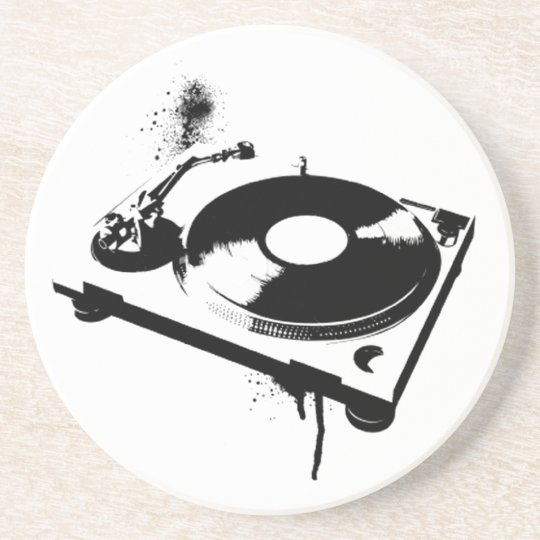 Deejay DJ Turntable Coaster | House music gifts