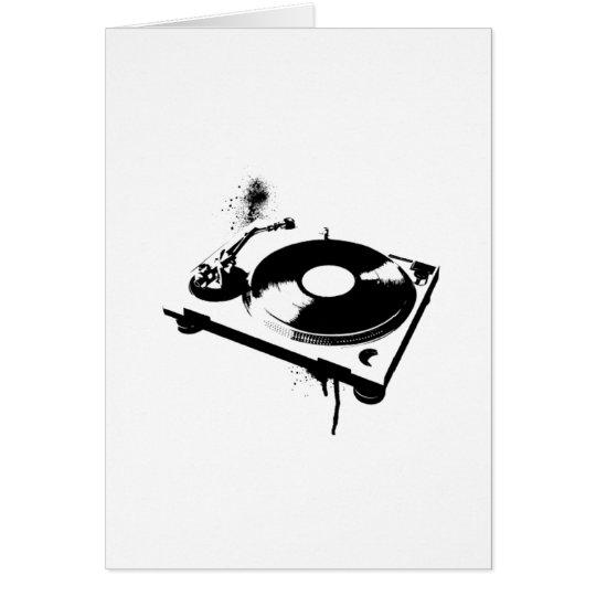 Deejay DJ Turntable Greeting Card   Ibiza House
