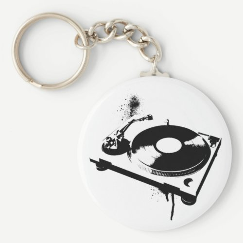 Deejay DJ Turntable Keychain | House Music Gifts