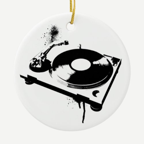 Deejay DJ Turntable Ornament | House Music Gifts
