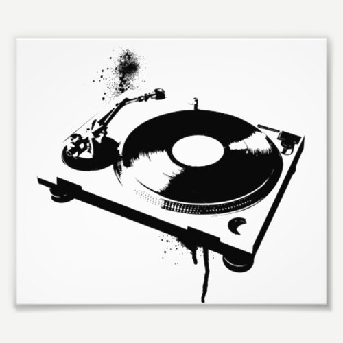 Deejay DJ Turntable Photo Print | Ibiza Gifts
