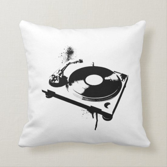 Deejay DJ Turntable Pillow | House music gifts