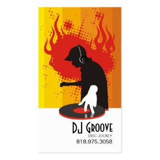 DeeJay Groove Disc Jockey - Music Business Card