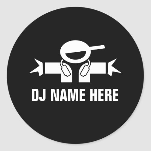 Deejay name stickers for music DJ Disk Jockey