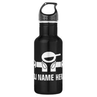Deejay water bottle for music DJ Disk Jockey