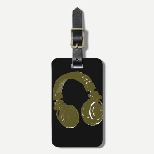 deejays headphone bag tag