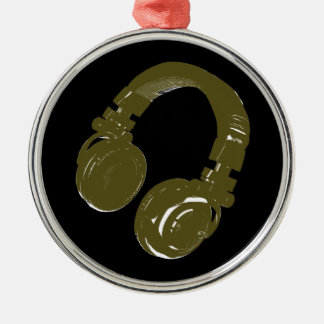 deejays headphone metal ornament