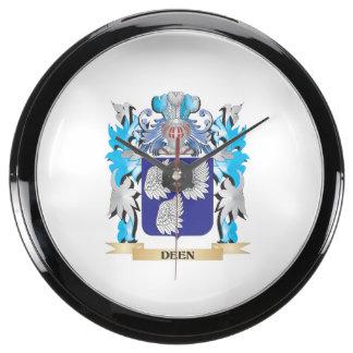 Deen Coat of Arms - Family Crest Aquavista Clock