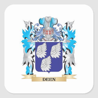 Deen Coat of Arms - Family Crest Square Sticker