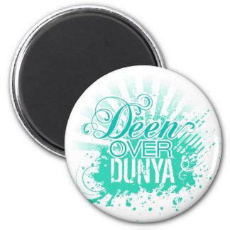 'DEEN OVER DUNYA' Turquoise Magnet