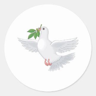 Deena Dove Classic Round Sticker
