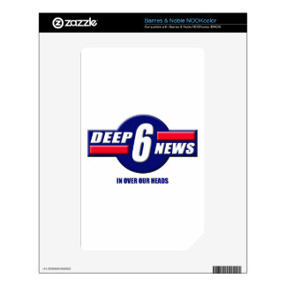 Deep6News Logo Decal For NOOK Color