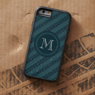 Deep Aqua Navy Blue Custom Monogram iPhone 6 Case