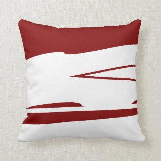 Deep Blood Cardinal Throw Pillow