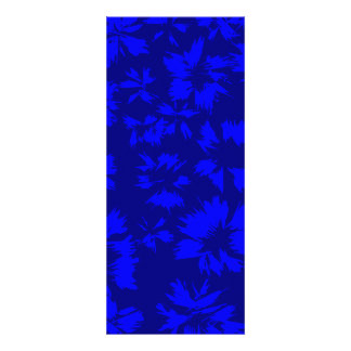 Deep blue abstract floral pattern. custom announcement