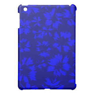 Deep blue abstract floral pern. cover for the iPad mini