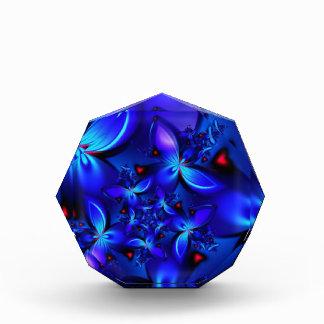 DEEP BLUE ABSTRACT FRACTALS GEOMETRIC DIGITAL ART AWARDS