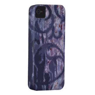 Deep blue Abstract iPhone 4 Case-Mate Case