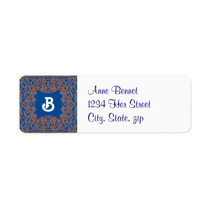 Deep Blue address label