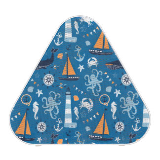 Deep Blue All Things Nautical Bluetooth Speaker