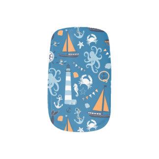 Deep Blue All Things Nautical Minx Nail Art