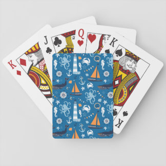 Deep Blue All Things Nautical Deck Of Cards