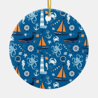 Deep Blue All Things Nautical Ornament