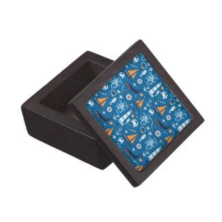 Deep Blue All Things Nautical Premium Trinket Box