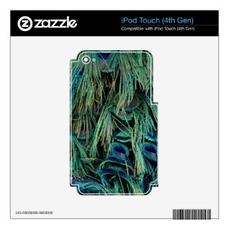 Deep Blue And Green Peafowl Feathers iPod Touch 4G Decals
