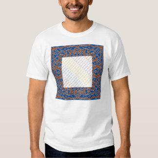 Deep Blue Bandanna picture frame t-shirt
