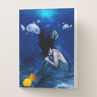 Deep Blue Beauty Pocket Folder