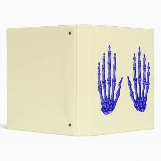 Deep Blue Bones of the Hand Binder