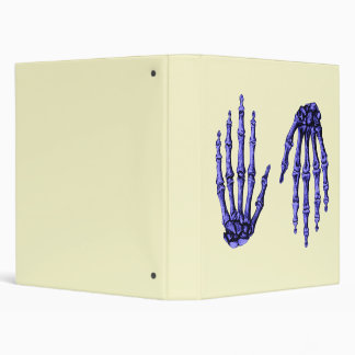 Deep Blue Bones of the Hands, One up One down Binder