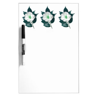 Deep Blue Camellia Dry Erase Board