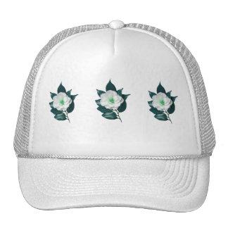 Deep Blue Camellia Trucker Hat