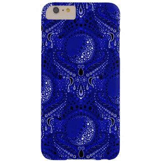 deep blue crescent moon damask phone case