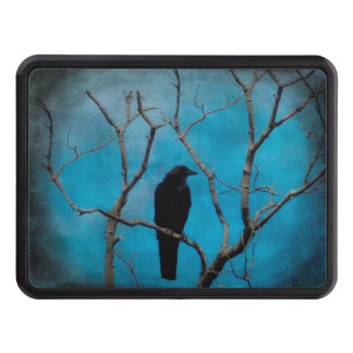 Deep Blue Crow Trailer Hitch Cover