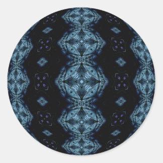 Deep Blue Darkness Round Sticker