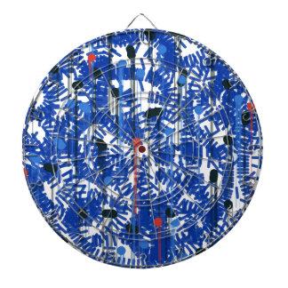 Deep Blue Dartboard With Darts