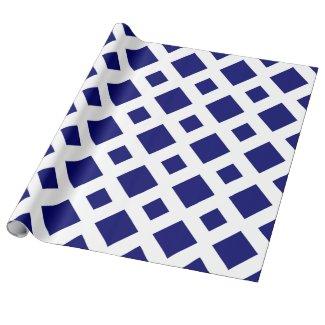 Deep Blue Diamond, Bold White Border Wrapping Paper