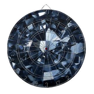 Deep Blue Diamond Effect Dartboard With Darts
